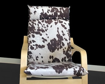 SALE Cow Print IKEA POÄNG Cushion Slipcover - Udder Madness Milk Brown