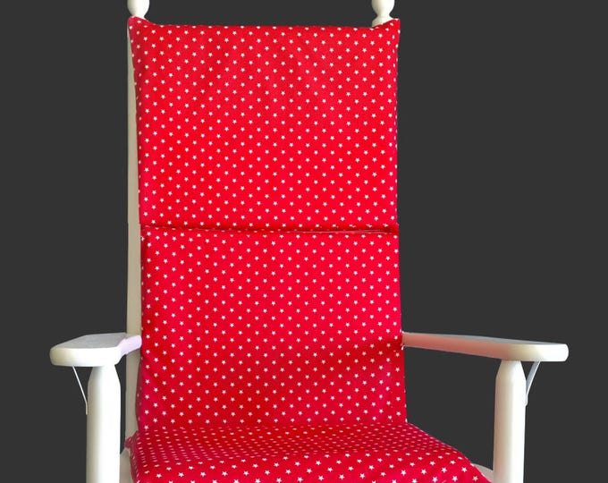 Red Stars Rocking Chair Pad