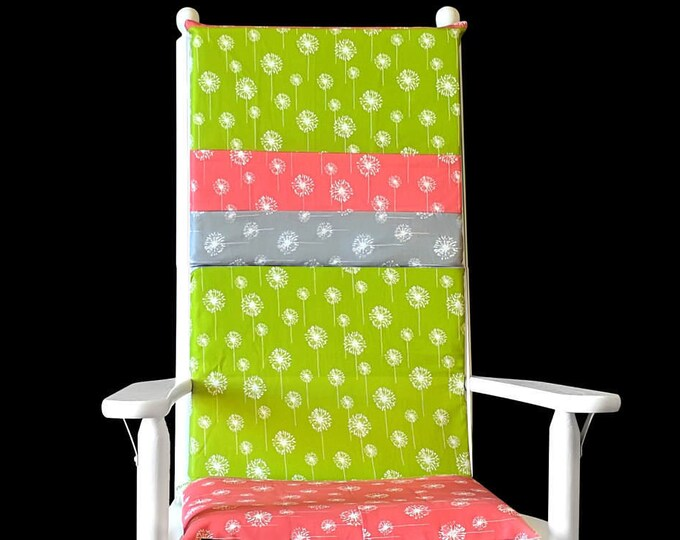 Floral Dandelion Rocking Chair Cushion Covers