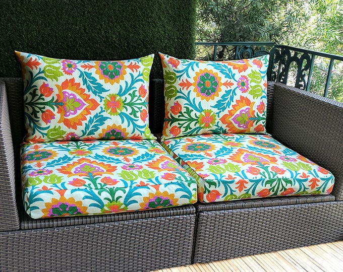 IKEA OUTDOOR Slip Cover, Flower Ikea Cushion Covers, Custom Ikea Decor, Bespoke Arholma Covers, Santa Maria Mimosa