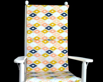 Colorful Diamond Pattern Rocking Chair Cushion Cover
