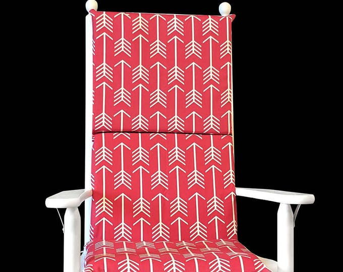Red Arrows Rocking Chair Cushion Cover, Kids Chair Covers