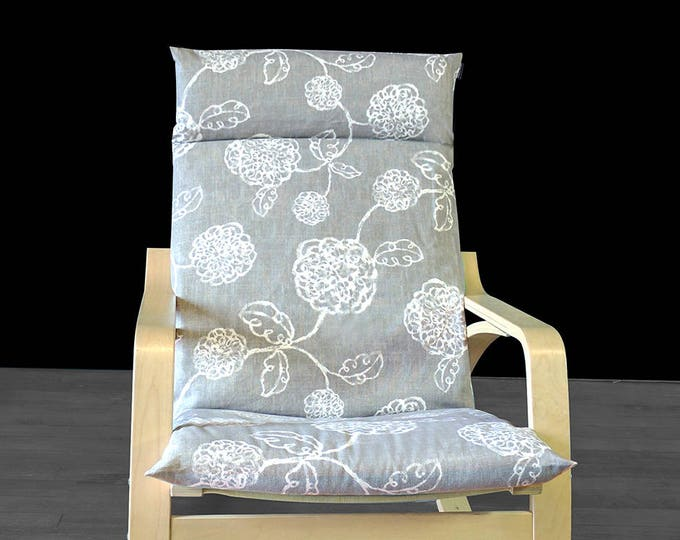 Magnolia Ikea Poang Chair Cover, Flower Ikea Seat Cover