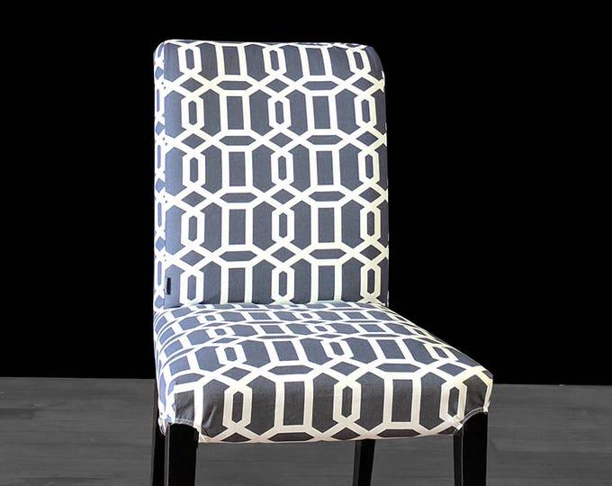 Geometric Dark Gray IKEA HENRIKSDAL Chair Cover