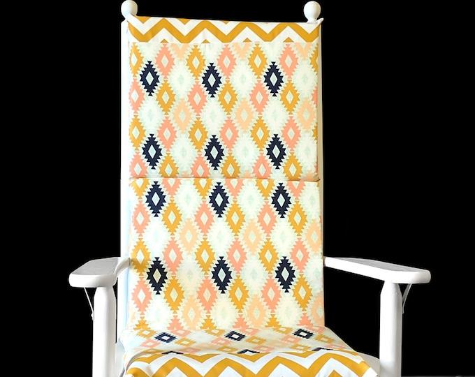 Diamond Pattern Rocking Chair Pads