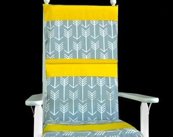 Yellow Arrow Print Rocking Chair Cushion