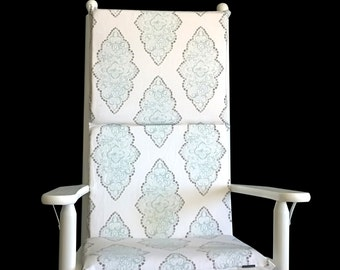 Patterned Rocking Chair Cushion