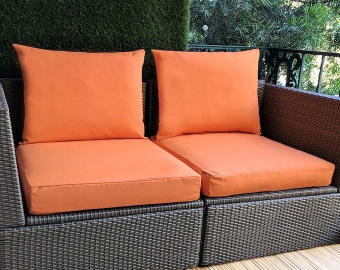 IKEA OUTDOOR Slip Cover, Ikea Cushion Covers, Custom Ikea Decor, Bespoke Arholma Covers, Sunbrella Tuscan Solid Orange
