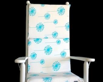 Turquoise Dandelion Rocking Chair Pad