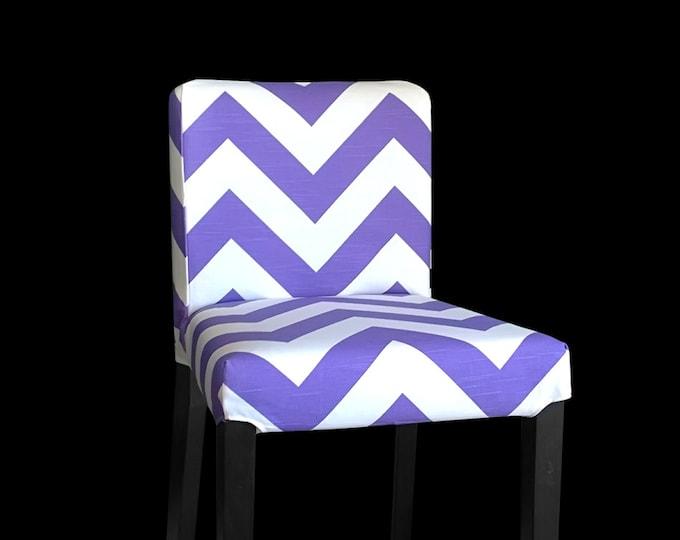 Purple Chevron IKEA HENRIKSDAL Bar Stool Cover, Zig Zag Henrkisdal Cover