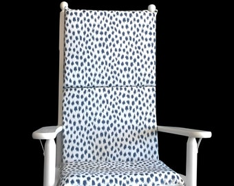Navy Blue Animal Spots Rocking Chair Cover