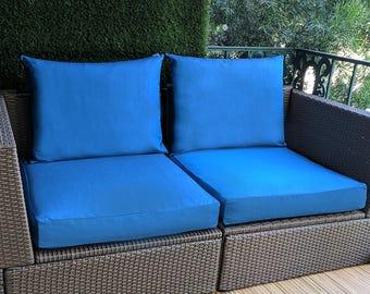 SALE Sunbrella Regatta, IKEA Blue OUTDOOR Slip Cover, Ikea Cushion Covers, Custom Ikea Decor, Bespoke Arholma Covers