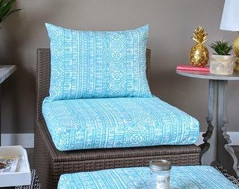 IKEA OUTDOOR Slip Cover, Ikea Cushion Covers, Custom Ikea Decor, Bespoke Arholma Covers, Mexican Ocean Blue