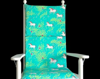 Horses Rocking Chair Cushion Covers