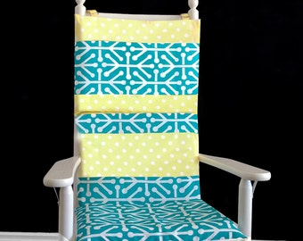 Yellow Polka Dot Rocking Chair Cushion Cover