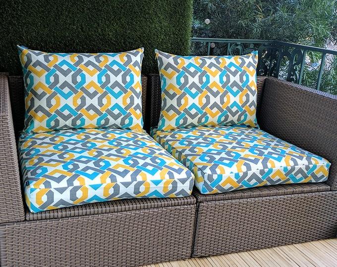 IKEA OUTDOOR Slip Cover, Ikea Cushion Covers, Custom Ikea Decor, Bespoke Arholma Covers, Geometric Rieser