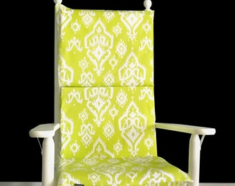 Lime Green Indian Style Rocking Chair Cushion Cover