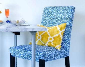 Blue Indian Style IKEA HENRIKSDAL Dining Chair Cover