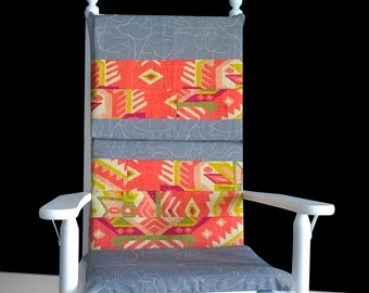 Reversible Rocking Chair Cushion And Cover Set