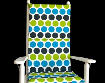 Big Colorful Dots Rocking Chair Cover