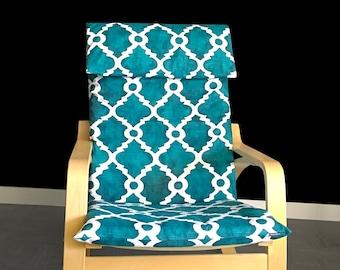 IKEA POÄNG Cushion Slipcover - Madrid Plantation Blue