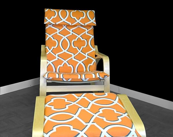 Orange Ikea POÄNG Cushion Slipcovers SET