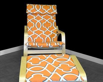SALE 70's Orange Ikea POÄNG Cover