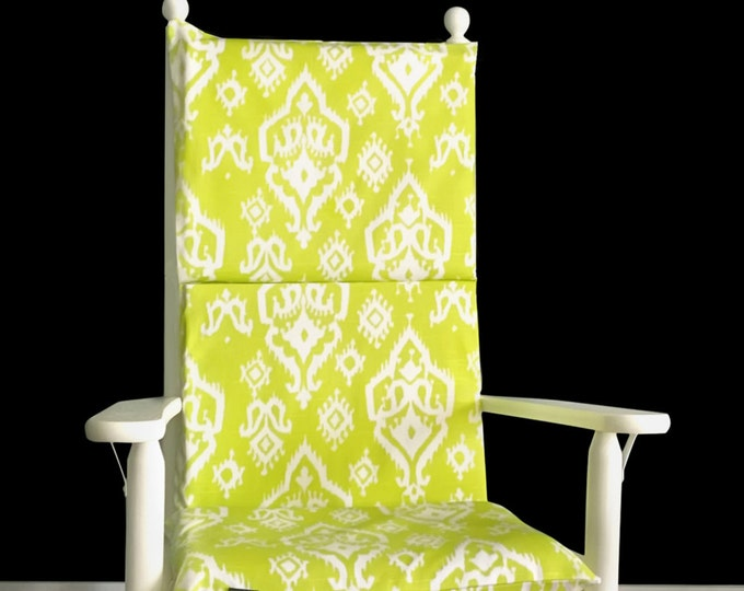 Green Indian Style Rocking Chair Pads Covers