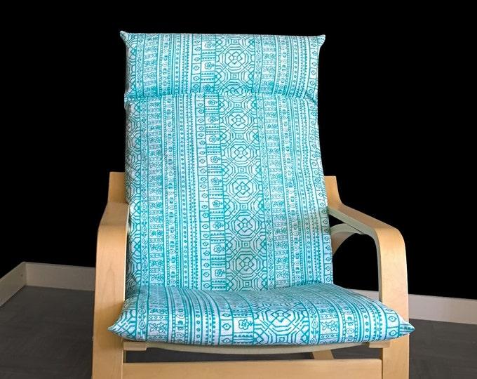 IKEA POÄNG Chair Cover, Cushion Slip Cover - Devada Ocean Blue