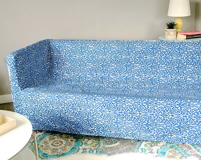 IKEA KNOPPARP Slip Cover, Sri Lanka Indigo Blue