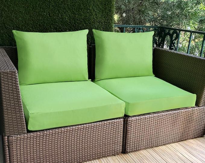 Green IKEA OUTDOOR Slip Cover, Ikea Cushion Covers, Custom Ikea Decor, Bespoke Arholma Covers, Sunbrella Parrot