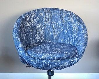 Indigo Navy Blue Tribal Indian Sioux IKEA SKRUVSTA Chair Slip Cover