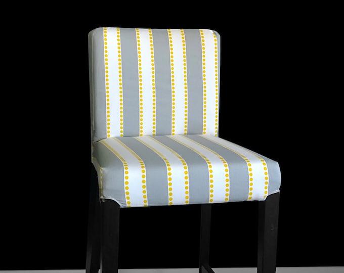 Grey Stripe IKEA HENRIKSDAL Bar Stool Chair Cover, Summerhouse Henriksdal Cover