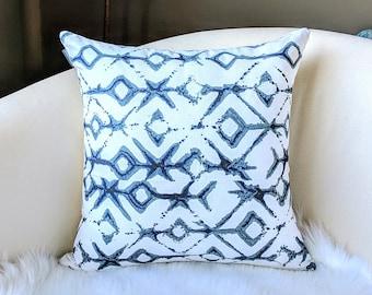 Tribal Indigo Blue Pillow Cover