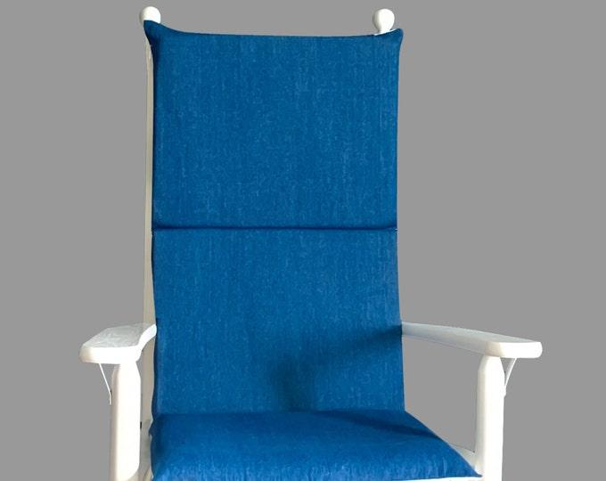 Blue Denim Rocking Chair Cushions