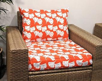 IKEA OUTDOOR Slip Cover, Hawaiian Orange Flower Ikea Cushion Covers, Ikea Decor, Bespoke Arholma Covers
