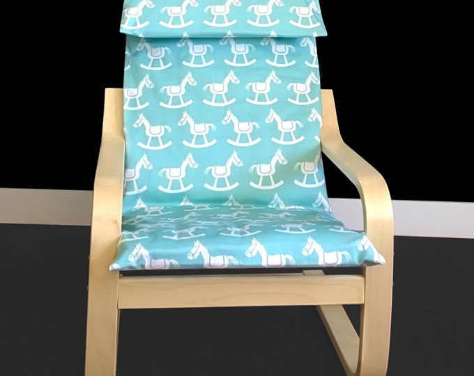Rocking Horse Kids Ikea Poang Chair Cover, Ikea Poang Nursery Room Cover