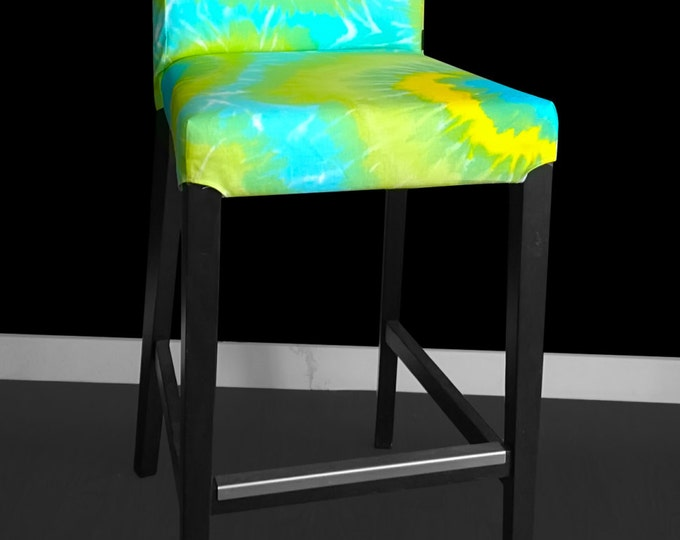 Tie Dye Ikea Bar Stool Cover, Hippie Style Henriksdal Cover, Psychedelic Ikea Covers