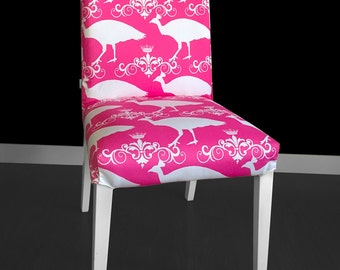 Pink Peacock IKEA HENRIKSDAL Dining Chair Cover, Bird Print Henriksdal Cover