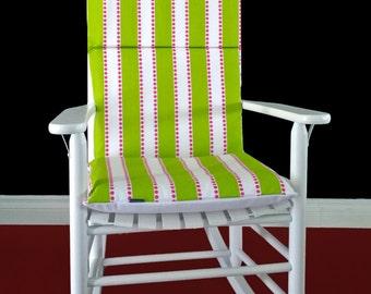 Green Stripe Rocking Chair Pad