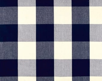 IKEA Furniture Covers, Farmhouse Buffalo Check Navy Blue, Cream