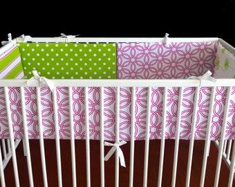 Pink Nursery Crib Cot Bumper