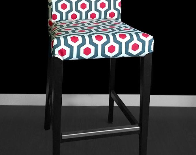 Geometric Hexagon IKEA HENRIKSDAL Bar Stool Chair Cover