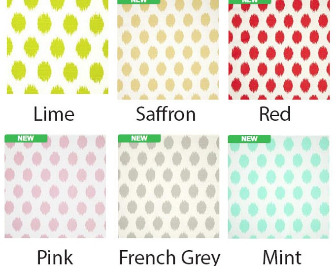 Red Turquoise Lime Green Pink Ikea Ikat Polka Dot Chair Covers