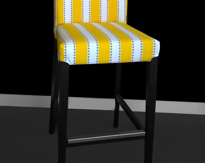 Yellow Stripe IKEA HENRIKSDAL Bar Stool Cover