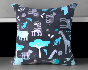 Pillow Cover - Jungle Tales Topaz