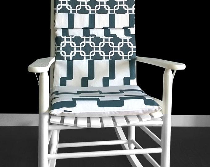 Geometric Patchwork Rocking Chair Pad