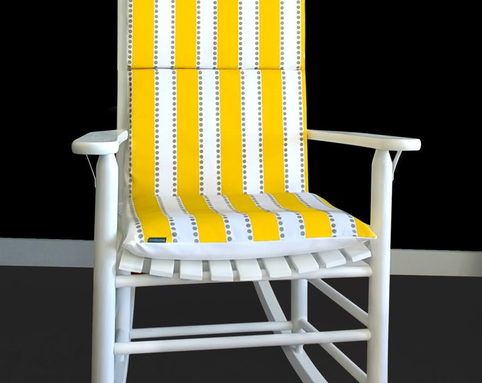 Yellow Stripe Rocking Chair Cushion