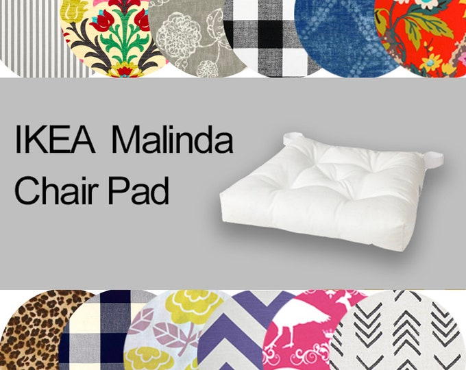 Custom Ikea Chair Pad Cover, Custom Ikea Malinda Covers, Malinda Seat Covers, Colorful Ikea Slipcovers