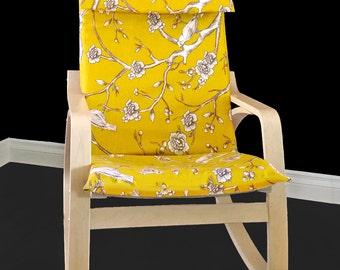Blossom IKEA POÄNG Cushion Slipcover - Dwell Studio Vintage Citrine